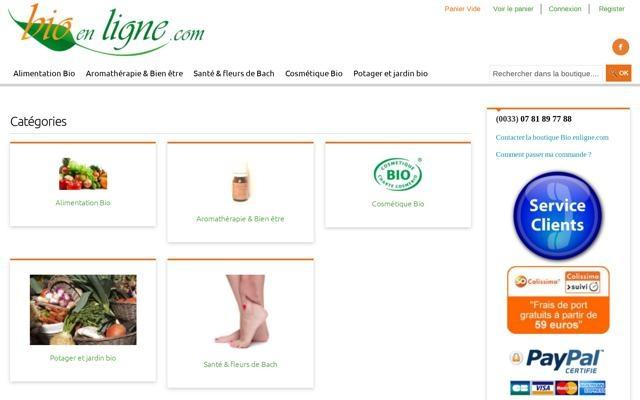 Boutique bio en ligne