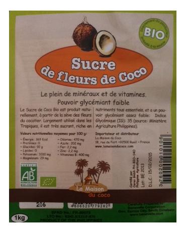 Sucre De Fleurs De Coco Biologique 1kg